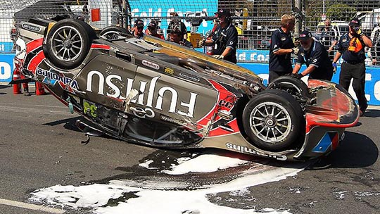 Ricky Taylor's damaged car Gold Coast 600 2012