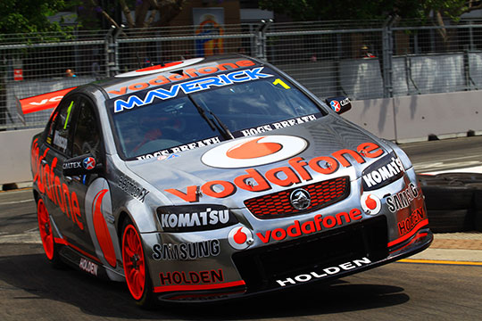 Jamie Whincup familiarises himself with the Sydney Telstra 500 street circuit
