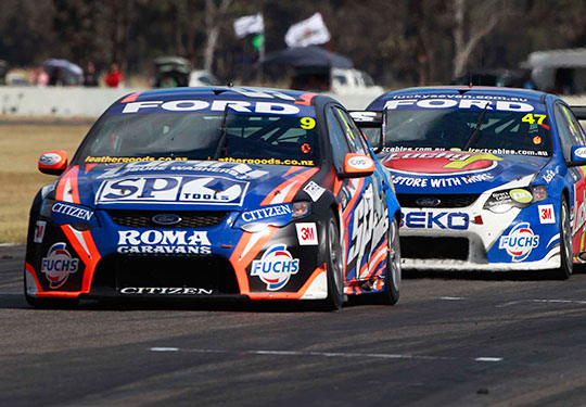 Shane-van-Gisbergen-and-Tim-Slade-at-Winton