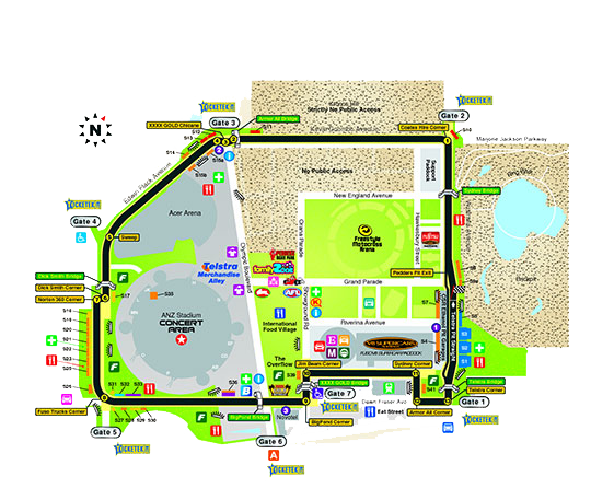 Sydney Telstra 500 Circuit Map