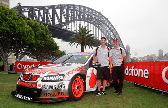 Triple Eight Engineering pay tribute to outgoing title sponsor Vodafone with chrome livery