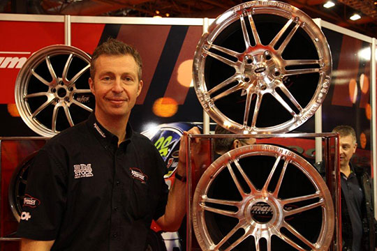 Matt Neal with the Rimstock forged V8 Supercar COTF Wheel
