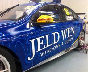 Team Jeld-Wen Ford Falcon (side)
