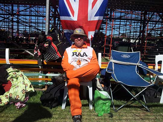 British marshall Graeme Fowler at the Clipsal 500 Adelaide