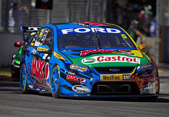 Ford Performance Racing's Mark Winterbottom at the Clipsal 500