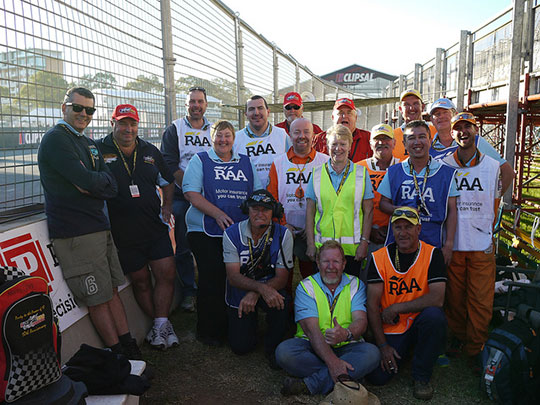 The 14.4L marshalling team at the Clipsal 500