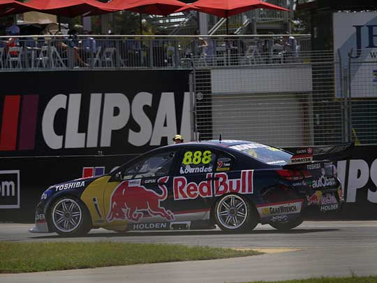 The view from marshal post 14.4L at the Clipsal 500 Adelaide