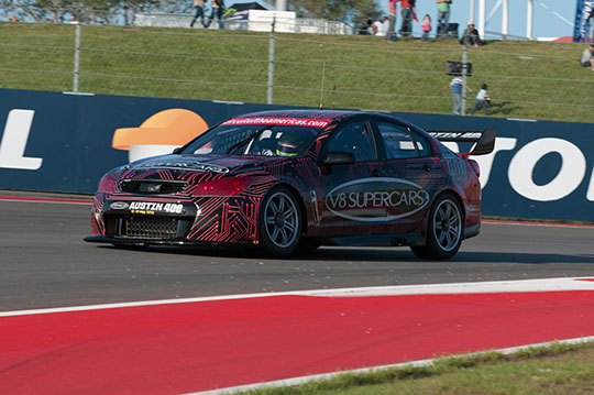 V8 Supercars prototype at Circuit of the Americas