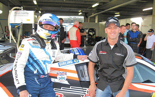 James Winslow and WTCC Champion Rob Huff