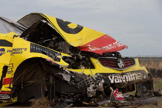 Scott-Pye's-damaged-ekol-Racing-Holden