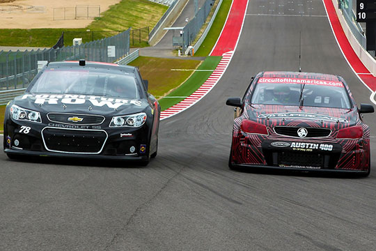 James Courtney and Kurt Busch swap cars in Texas