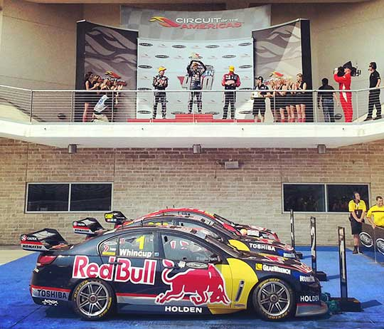 Austin 400 Race 1 podium