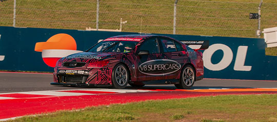 James Courtney laps the Circuit of the Americas