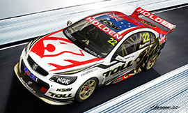 James Courtney #22 Holden Racing Team Holden Commodore US livery