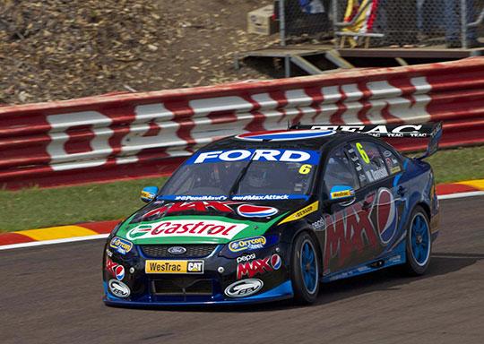 Mark winterbottom wins race 2 of the SKYCITY Triple Crown in Darwin