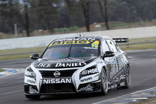 Michael Krumm pilots the #15 Jack Daniel's Racing Nissan Altima at Winton