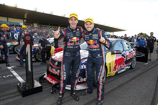2013 Sandown 500 winners Jamie Whincup and Paul Dumbrell