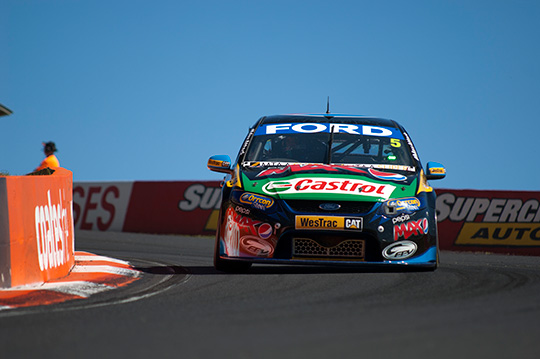 the #5 Pepsi Max Crew FPR Ford on its way to winning the 2013 Bathurst 1000