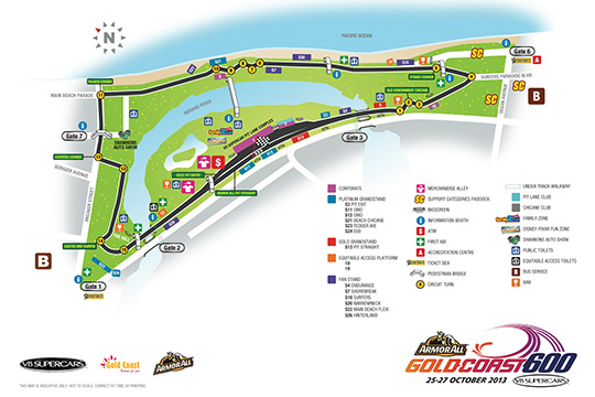 Gold Coast 600 circuit map