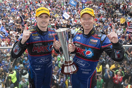 2013 Bathurst 1000 winners Mark Winterbottom and Steve Richards