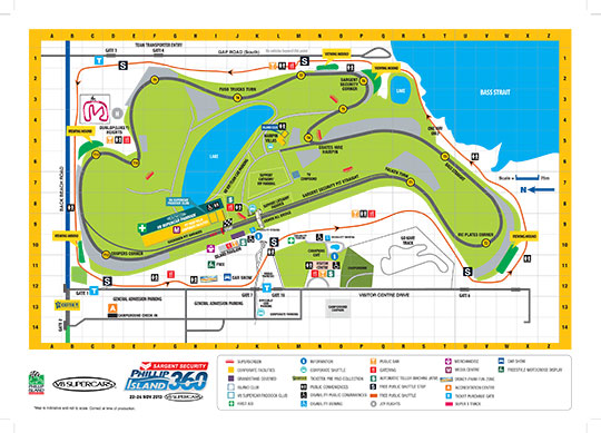 Phillip Island 360 Track Map