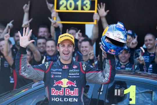 Jamie Whincup wins fifth championship