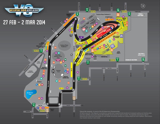 Clipsal 500 Adelaide circuit