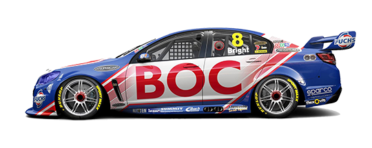 Side shot of the 2014 Team BOC livery