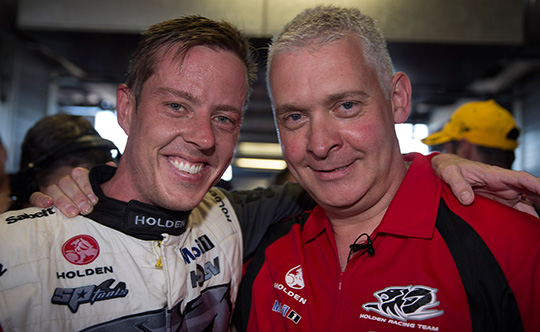 James Courtney and Adrian Burgess
