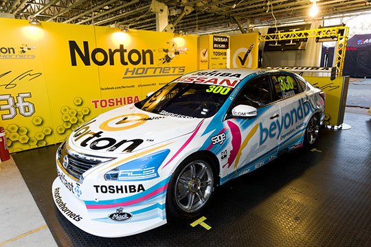 Michael Caruso's one-off beyondblue livery for Melbourne