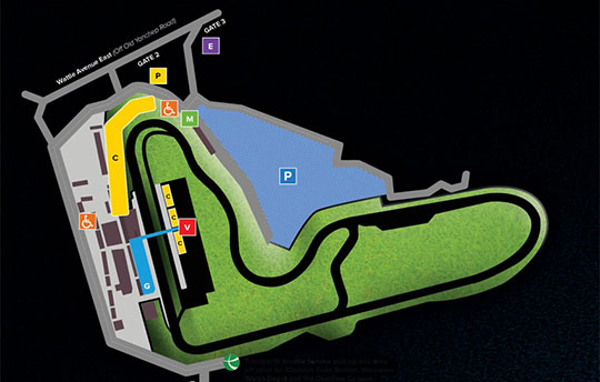 Barbagallo Raceway circuit map