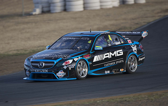 Erebus Motorsport test at Queensland Raceway