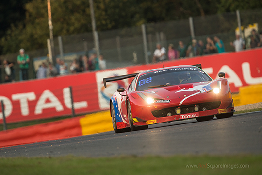 Craig Lowndes in the #52 AF Corse Ferrari at the Spa 24 Hour