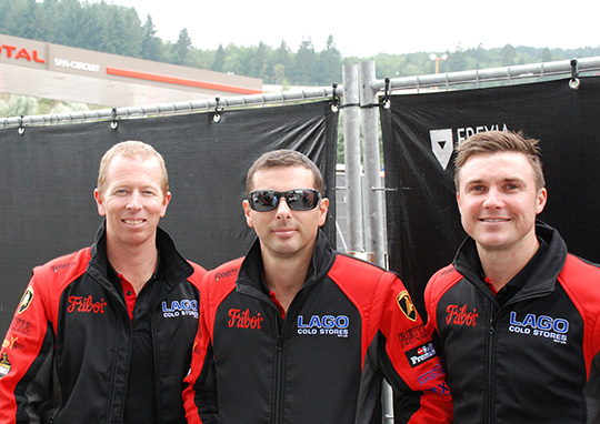 Steve Richards, Steve Owen and David Russell at the the Spa Francorchamps circuit