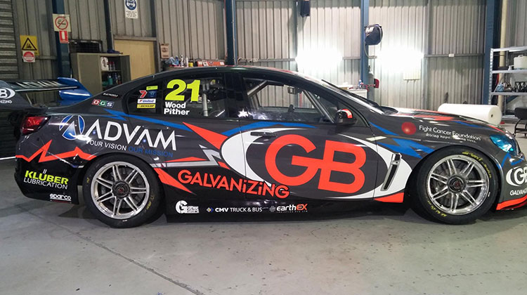 The new look Team ADVAM/GB livery