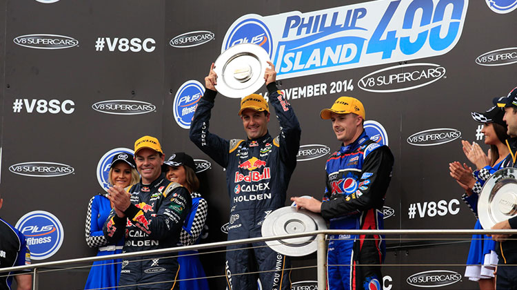 Jamie Whincup Phillip Island 400 Race Two winner