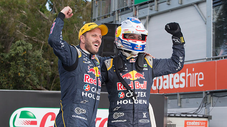 Jamie Whincup and co-driver Paul Dumbrell