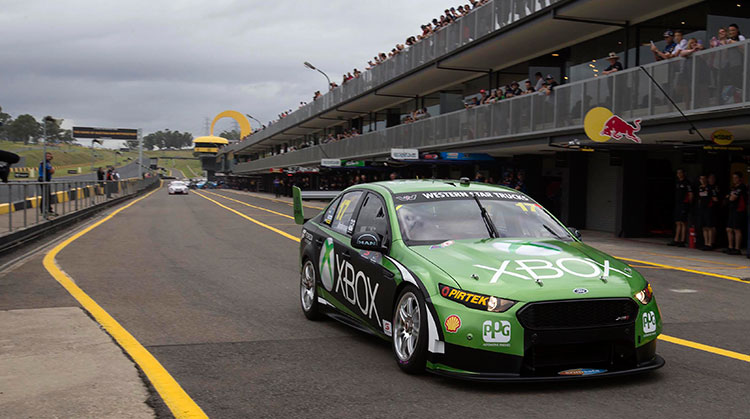 Xbox Ford Falcon FG X at the V8 Supercars SuperTest 2015