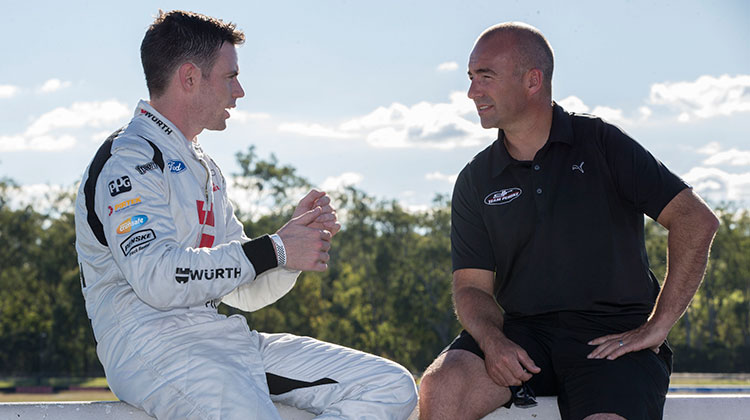 DJR Team Penske drivers Scott Pye and Marcos Ambrose