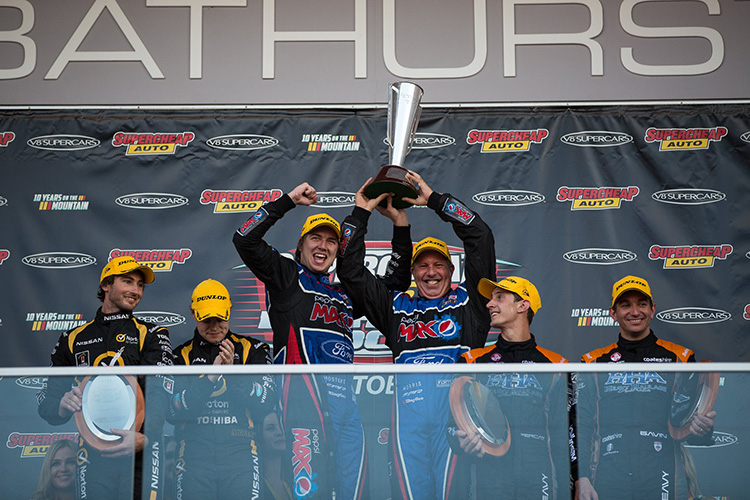 Chaz Mostert and Paul Morris won the Bathurst 1000 from last place on the grid, in 2014! Photo: Rhys Vandersyde