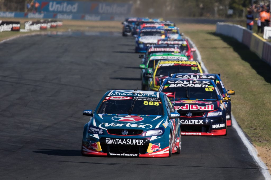 Craig Lowndes at Queensland Raceway - Photo: Rhys Vandersyde