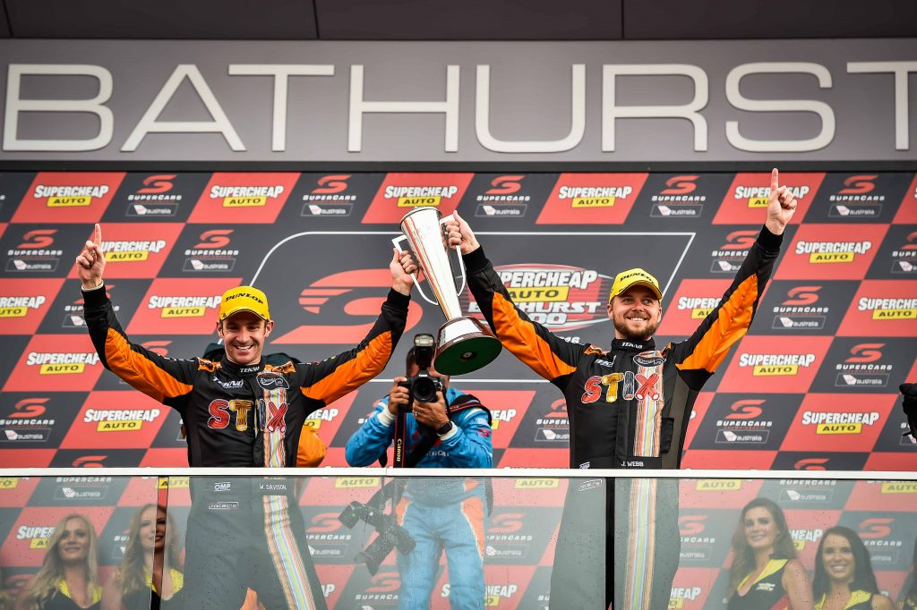 2016 Bathurst winners Will Davison and Jonathon Webb