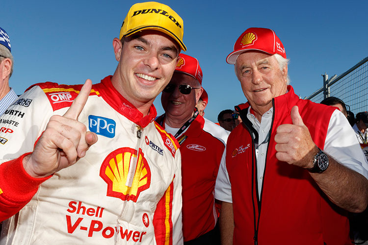 Scott McLaughlin and Roger Penske 2017 Perth SuperSprint