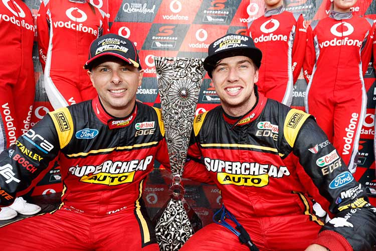 2017 Pirtek Enduro Cup winners Chaz Mostert and Steve Owen at the Gold Coast 600