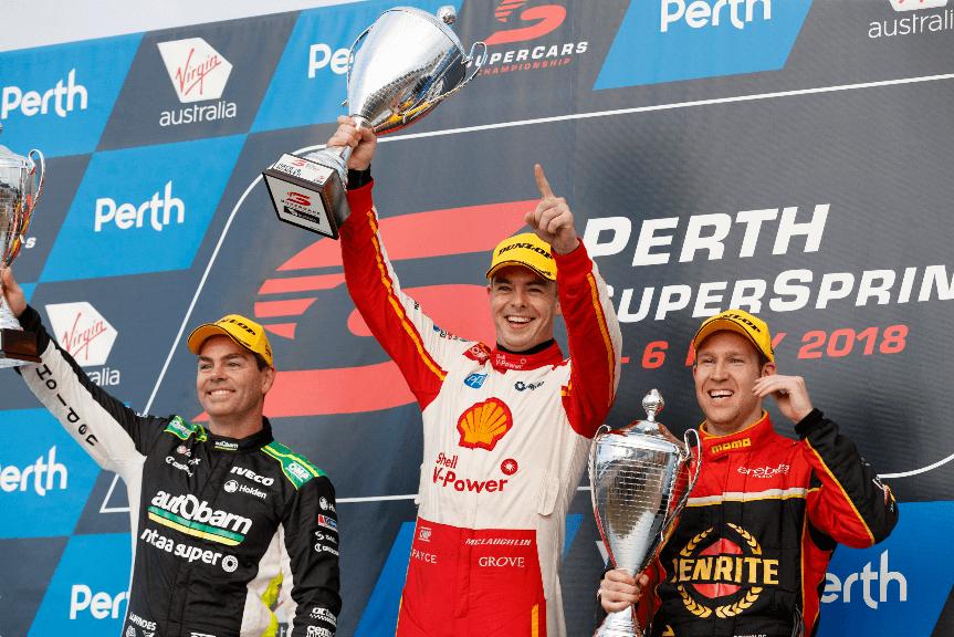 Scott McLaughlin scores maximum Supercars points at the 2018 Perth SuperSprint