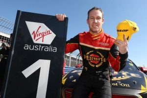 David Reynolds celebrates his second win of the 2018 Supercars season at the 2018 Darwin Triple Crown