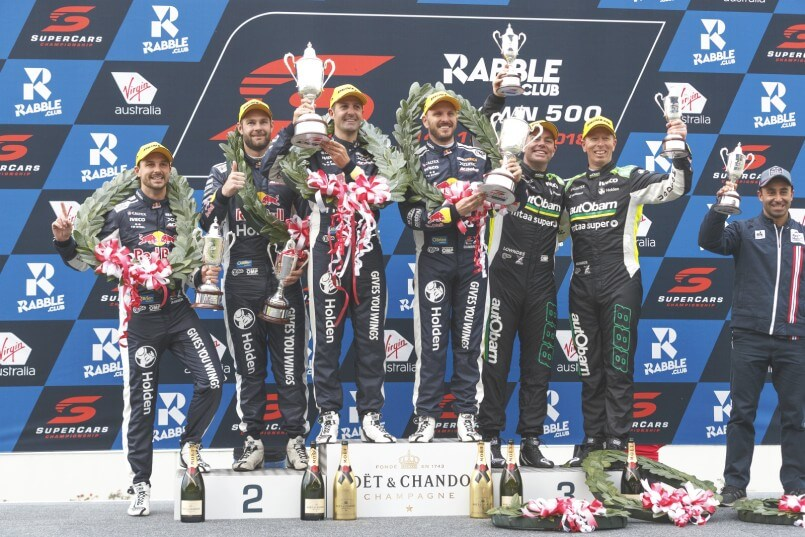 Triple Eight claim all three podium spots at the 2018 Sandown 500