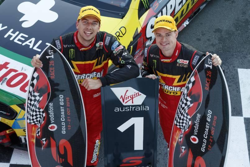 2018 Gold Coast 600 Race 26 winners Chaz Mostert and James Moffat